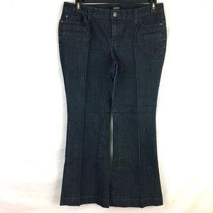 a.n.a. Modern Flare Leg Indigo Wash Denim Trousers